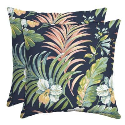 16 in. x 16 in. Simone Tropical Outdoor Throw Pillow (2-Pack)