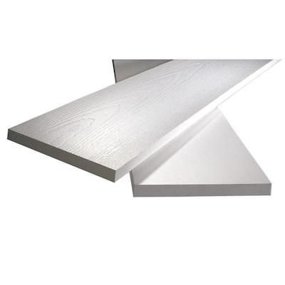 1 in. x 5-1/2 in. x 8 ft. White PVC Reversible Trim (4-Pack)