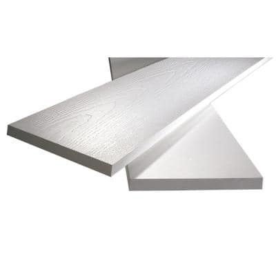 1 in. x 7-1/4 in. x 8 ft. White PVC Reversible Trim (2-Pack)