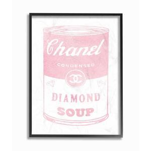 16 in. x 20 in. ''Fashion Diamond Soup'' by Amanda Greenwood Wood Framed Wall Art