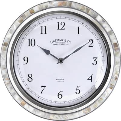 FirsTime & Co. Silver Sophia Mosaic Wall Clock