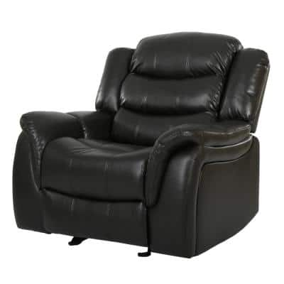 Hawthorne Black Leather Recliner