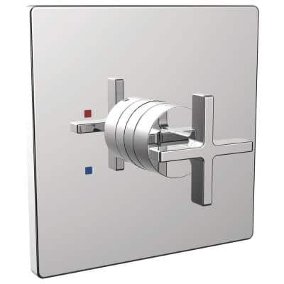 Lura 1-Handle Wall-Mount Shower Valve Trim Kit in Polished Chrome