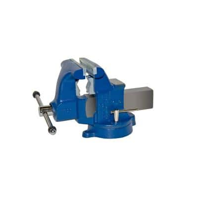 6-1/2 in. Medium Duty Tradesman Combination Pipe and Bench Vise - Swivel Base
