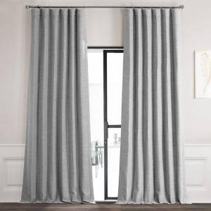Vista Grey Rod Pocket Blackout Curtain - 50 in. W x 120 in. L