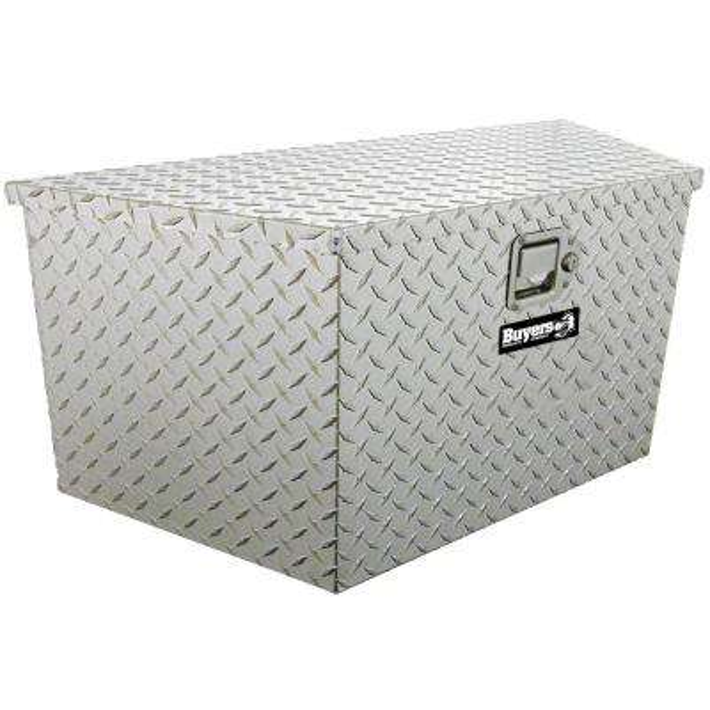 15 in. x 14.5 in. x 34 in. Diamond Plate Tread Aluminum Trailer Tongue Truck Tool Box