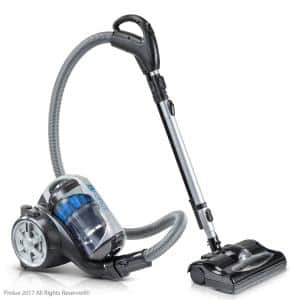 Bagless Canister Vacuum Cleaner With 2-Stage HEPA Filtration and Power Nozzle