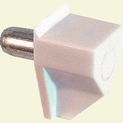 5 mm White Plastic Shelf Support Peg (8-pack)