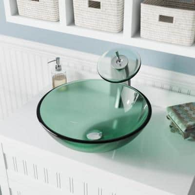 Green Vessel Sinks Bathroom, Green Glass Vessel Bathroom Sinks
