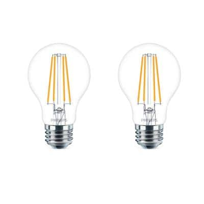 40-Watt Equivalent A19 Dimmable Energy Saving Clear Glass Indoor/Outdoor LED Light Bulb Daylight (5000K) (4-Pack)