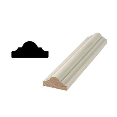 WM R136 1-1/8 in. x 2-7/16 in. Primed Finger-Jointed Chair Rail Moulding