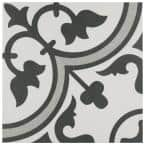 Arte Grey Encaustic 9-3/4 in. x 9-3/4 in. Porcelain Floor and Wall Tile (11.11 sq. ft. / case)