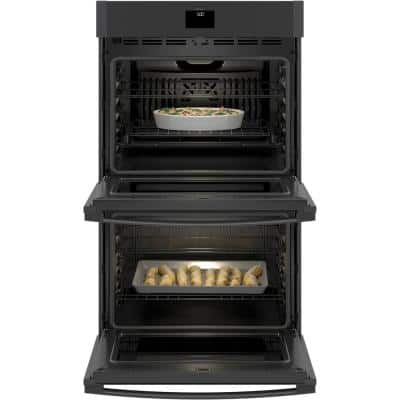 30 in. Smart Double Electric Wall Oven with Convection (Upper Oven) Self-Cleaning in Black Slate, Fingerprint Resistant