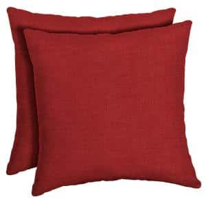 16 x 16 Ruby Leala Texture Square Outdoor Throw Pillow (2-Pack)