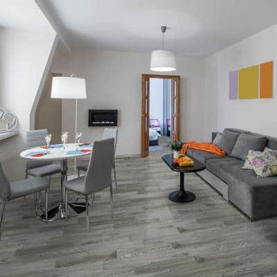 BaseCore Greyscale 6 in. W x 36 in. L Peel and Stick Luxury Vinyl Plank Flooring (54 sq. ft./case)