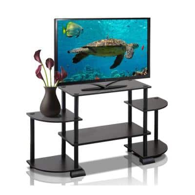 Turn-N-Tube 42 in. Espresso Particle Board Entertainment Center Fits TVs Up to 37 in. with Open Storage