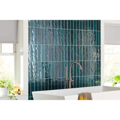 Arteko Deep Teal 3 in. x 12 in. Glazed Wall Ceramic Tile (12 sq. ft./case)