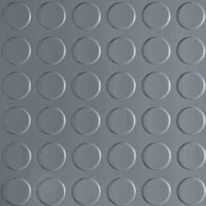 Coin 10 ft. Wide x Your Choice Length Grey Commercial Grade Vinyl Flooring