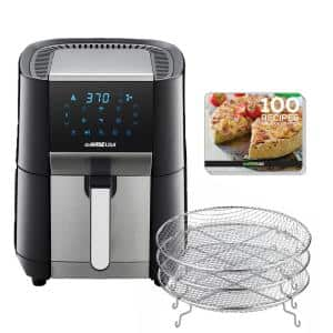 7 qt. Black/Stainless Steel Air Fryer and Dehydrator Max XL
