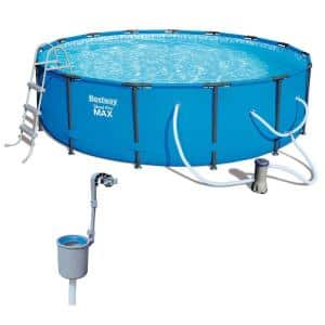 15 ft. Round 42 in. D Steel Hard Side Frame Pro Maximum Above Ground Pool with Skimmer