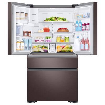 22.6 cu. ft. 4-Door French Door Refrigerator with Recessed Handle in Tuscan Stainless, Counter Depth
