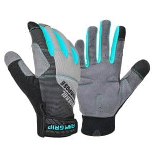 Medium Gray Women's General Purpose Synthetic Leather Glove