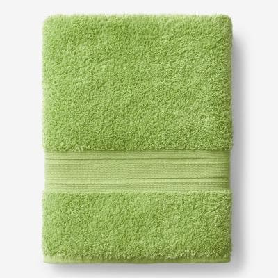 Company Cotton Field Green Solid Turkish Cotton Bath Sheet