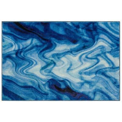 Wavelength Water 2 ft. x 3 ft. 4 in. Abstract Area Rug