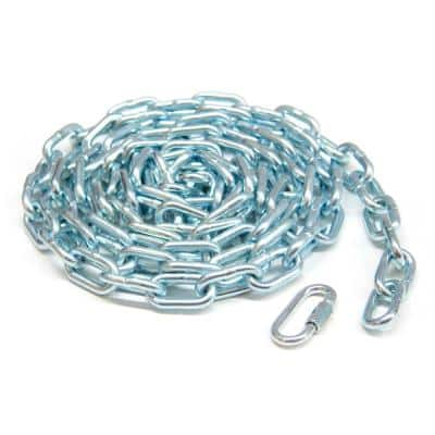 3/16 in. x 15 ft. Grade 30 Proof Coil Chain Zinc Plated Grab-N-Go Plastic Tub