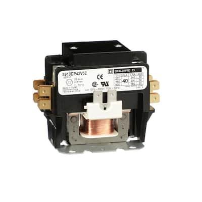 40 Amp 120-Volt AC 60 Hz 2-Pole Definite Purpose Contactor (4-Pack)