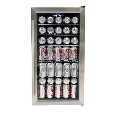 17 in. 117 (12 oz.) Can Cooler in Stainless Steel
