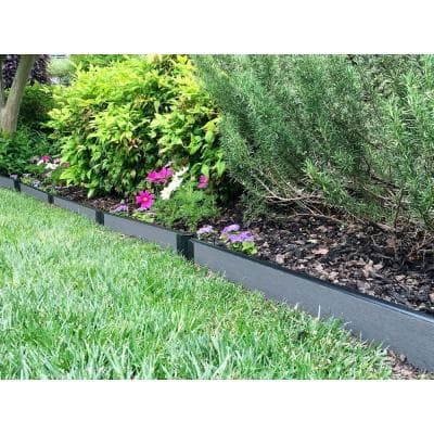1 in. Series 16 ft. Weathered Wood Composite Straight Landscape Edging Kit