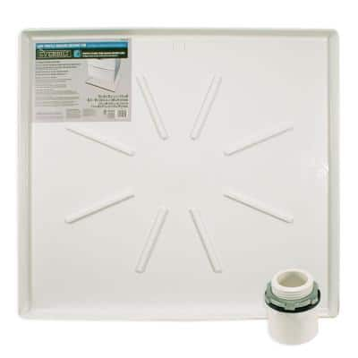 29 in. x 33 in. Low Profile Washing Machine Drain Pan in White