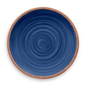 Rustic Swirl Indigo Melamine Dinner Plate (Set of 6)