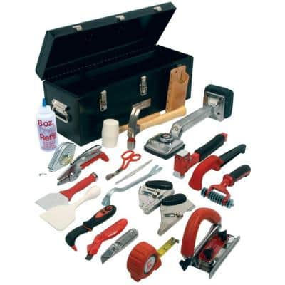 Carpet Installation Kit with 22 Tools Plus a 24 in. Tool Box