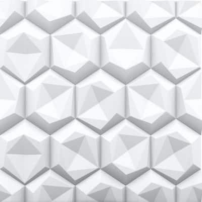 Hexagon 2 ft. x 2 ft. Seamless Foam Glue-up Wall Panel (48 Sq. Ft. / Pack)