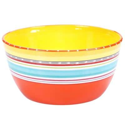 Mariachi 10.75 in. x 5.5 in. Multi-Colored Large Serving Bowl