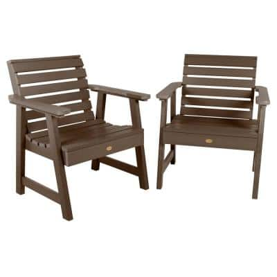 Weatherly Weathered Acorn Plastic Outdoor Lounge Chair (2-Pack)
