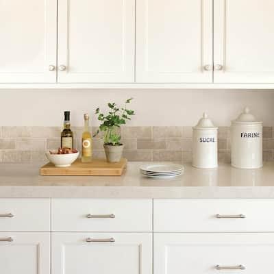 Stone White & Off-White Wallpaper Border