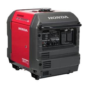 3000-Watt Super Quiet Electric and Recoil Start Gasoline Powered Inverter Generator with 30 Amp Outlet