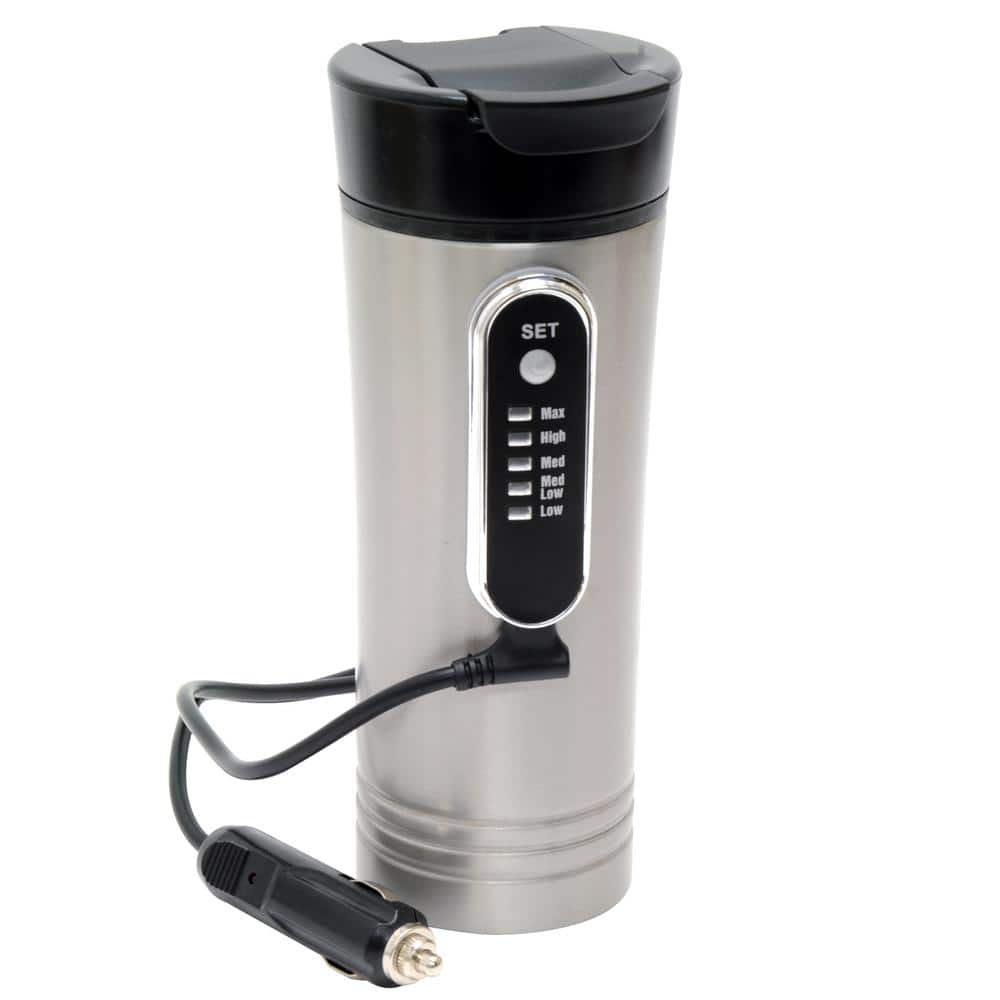 RoadPro 12-Volt 15 oz. Premium Heated Travel Mug