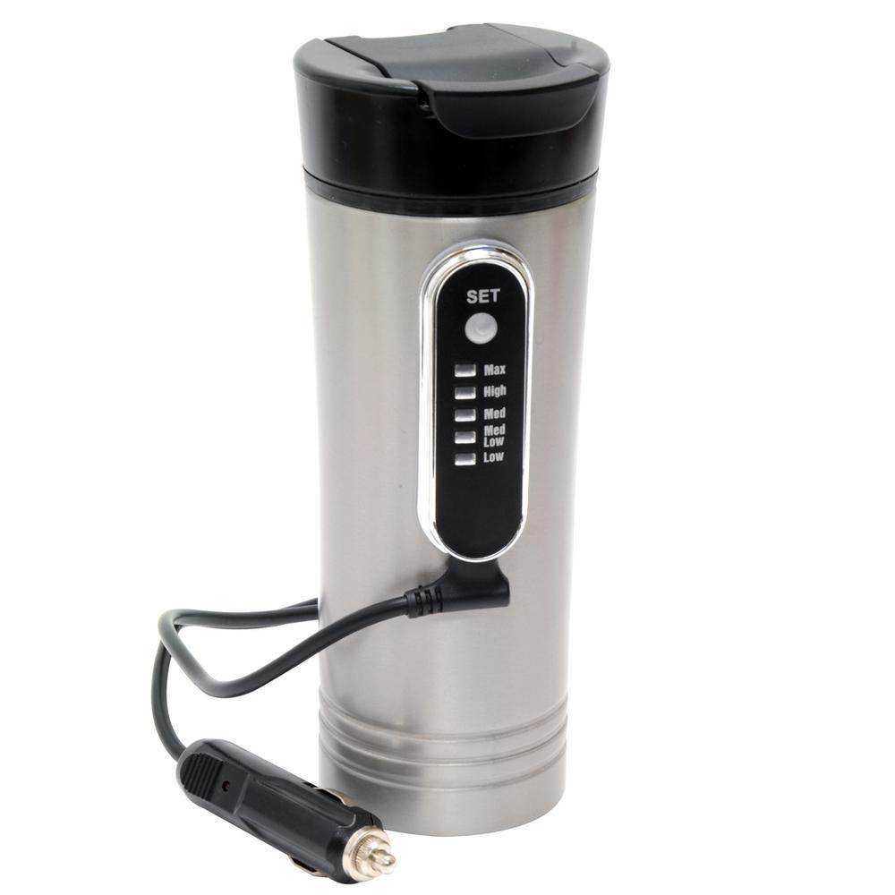 12-Volt 15 oz. Premium Heated Travel Mug