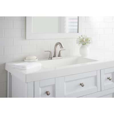 Irena 4 in. Centerset 2-Handle Bathroom Faucet in Brushed Nickel