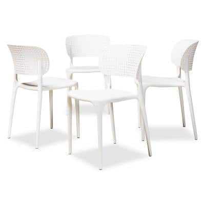 Rae White Dining Chair (Set of 4)