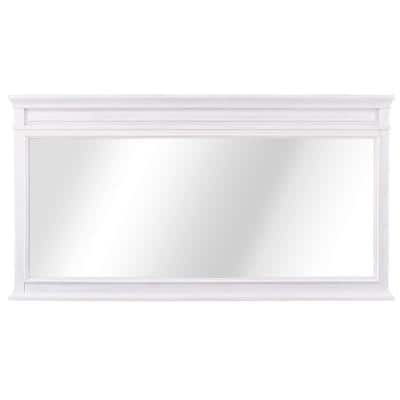 Cailla 60 in. W x 32 in. H Framed Wall Mirror in White Wash