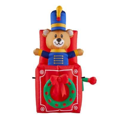 5 ft. Animated Inflatable Bear in Box