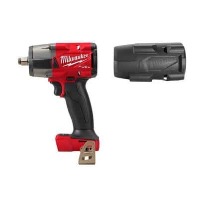 M18 FUEL Gen-2 18-Volt Lithium-Ion Brushless Cordless Mid Torque 1/2 in. Impact Wrench with Friction Ring and with Boot