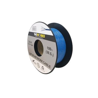 Cat 5E 24/4 100 ft. BLUE U/UTP CMR UL DATA CABLE