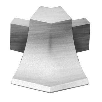Dilex-AHKA Brushed Chrome Anodized Aluminum 9/16 in. x 1 in. Metal 135 Degree Outside Corner