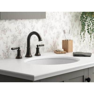 Capilano 8 in. Widespread 2-Handle Bathroom Faucet in Oil-Rubbed Bronze